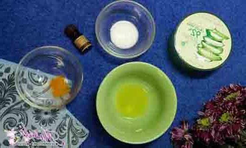 маска за лице с аспирин и белтък